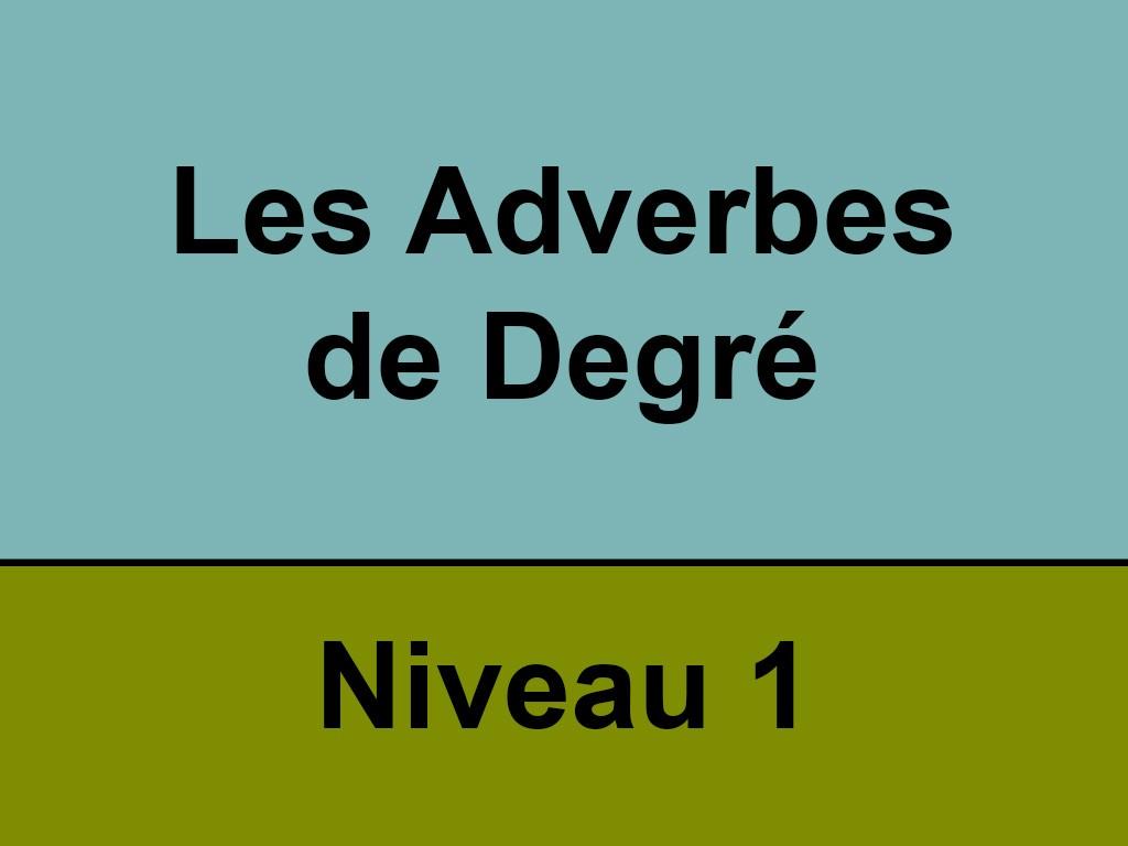 Niveau 1 Les Adverbes De Degre Portail Video De L Universite De Rouen Normandie